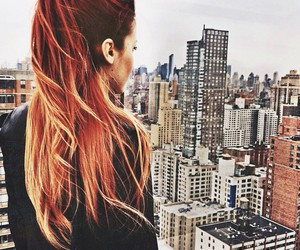 hair, girl, and city image