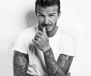 David Beckham, tattoo, and Hot image