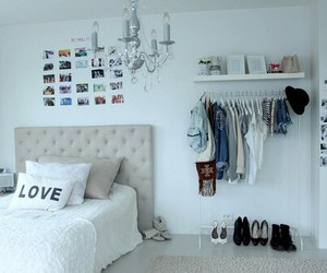 bedroom, cloths, and room image