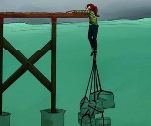 life, school, and sad image