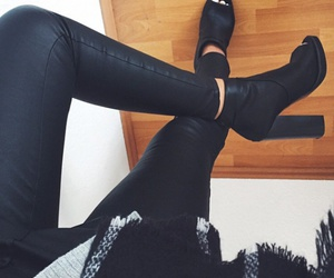 black, clothes, and heels image