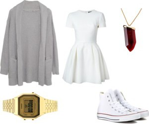 converse, spring, and dress image