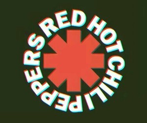 great, red hot chili peppers, and Logo image