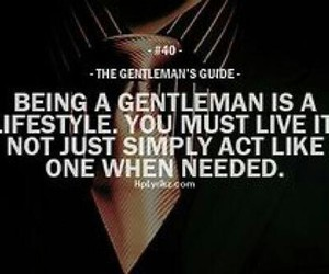 gentleman and quote image