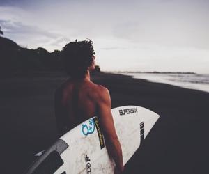 guy, hawaii, and surfboard image