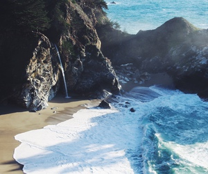 beach, beautiful, and cliff image