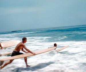 blue, horizon, and surf image