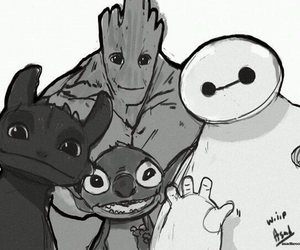 groot and stich image
