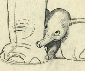 dumbo, drawing, and elephant image