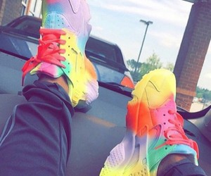 nike, colorful, and huarache image