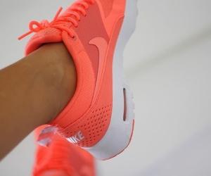 nike, shoes, and orange image