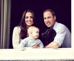 prince george, dog, and kate middleton image