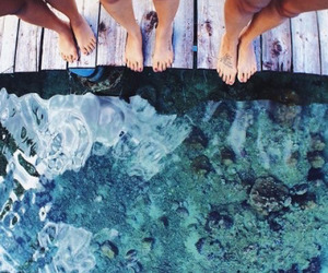 Best, best friends, and blue water image