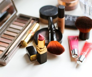 beauty, Brushes, and lipstick image