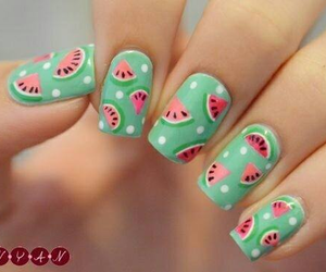 nails, pretty, and love image