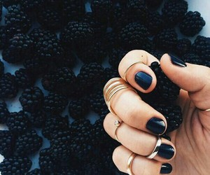 nails, black, and fruit image