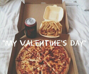 pizza, food, and Valentine's Day image