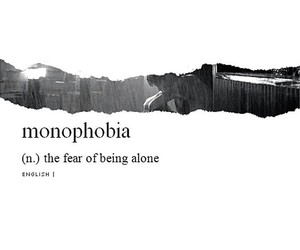 alone, fear, and phobia image