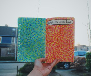 colour, WTJ, and wreck this journal image