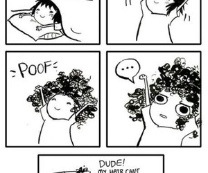 funny, hair, and comic image