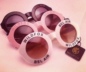 wildfox, sunglasses, and pink image