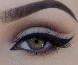 eye shadow, eyebrow, and lashes image