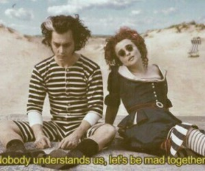 johnny depp, sweeney todd, and helena bonham carter image