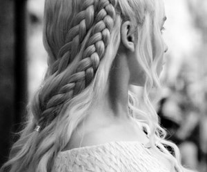 game of thrones, hair, and daenerys image