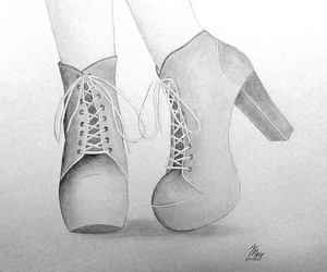 art, shoes, and love image