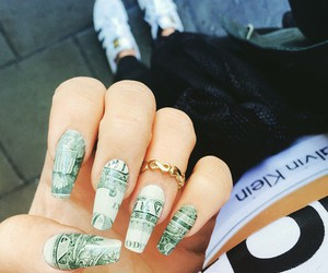 nails, Calvin Klein, and money image