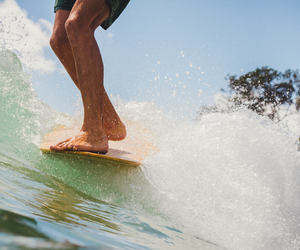 feet, wave, and guy image