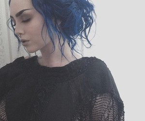 hair, blue, and Queen image