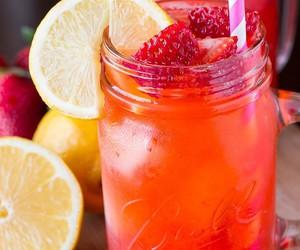 drink, fruit, and lemon image