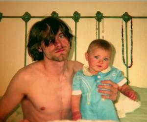 baby, blonde, and kurt cobain image