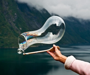 bubble, clouds, and water image