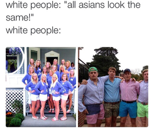 asian and white people image