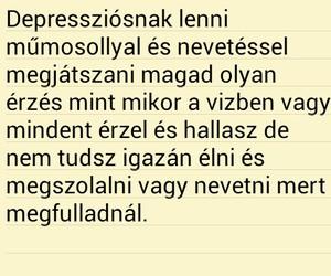 magyar, idézet, and depresszió image