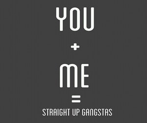 gangster, me, and straight image