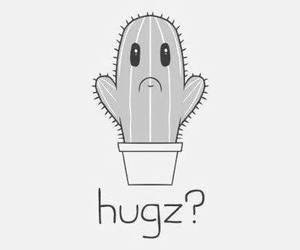 hug, cactus, and sad image