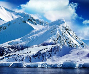 blue, ice, and mountain image