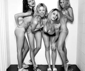 black and white, Hot, and spring breakers image