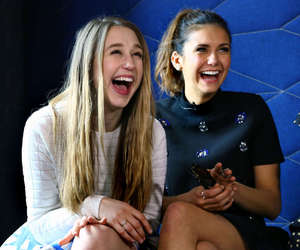Nina Dobrev, taissa farmiga, and tvd image