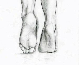 drawing, foot, and legs image
