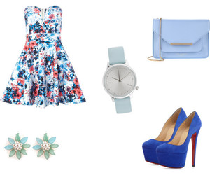 baby blue and flowers image