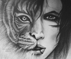 tiger, drawing, and andy biersack image