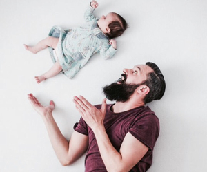 baby, family, and man image