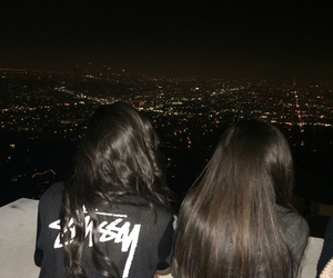 girl, friends, and night image