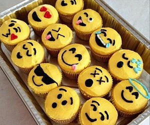 cupcake, emoji, and food image