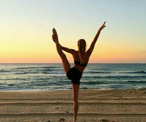 blond girl, dance, and gymnastic image