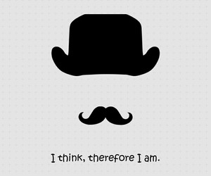 quote, mustache, and hat image